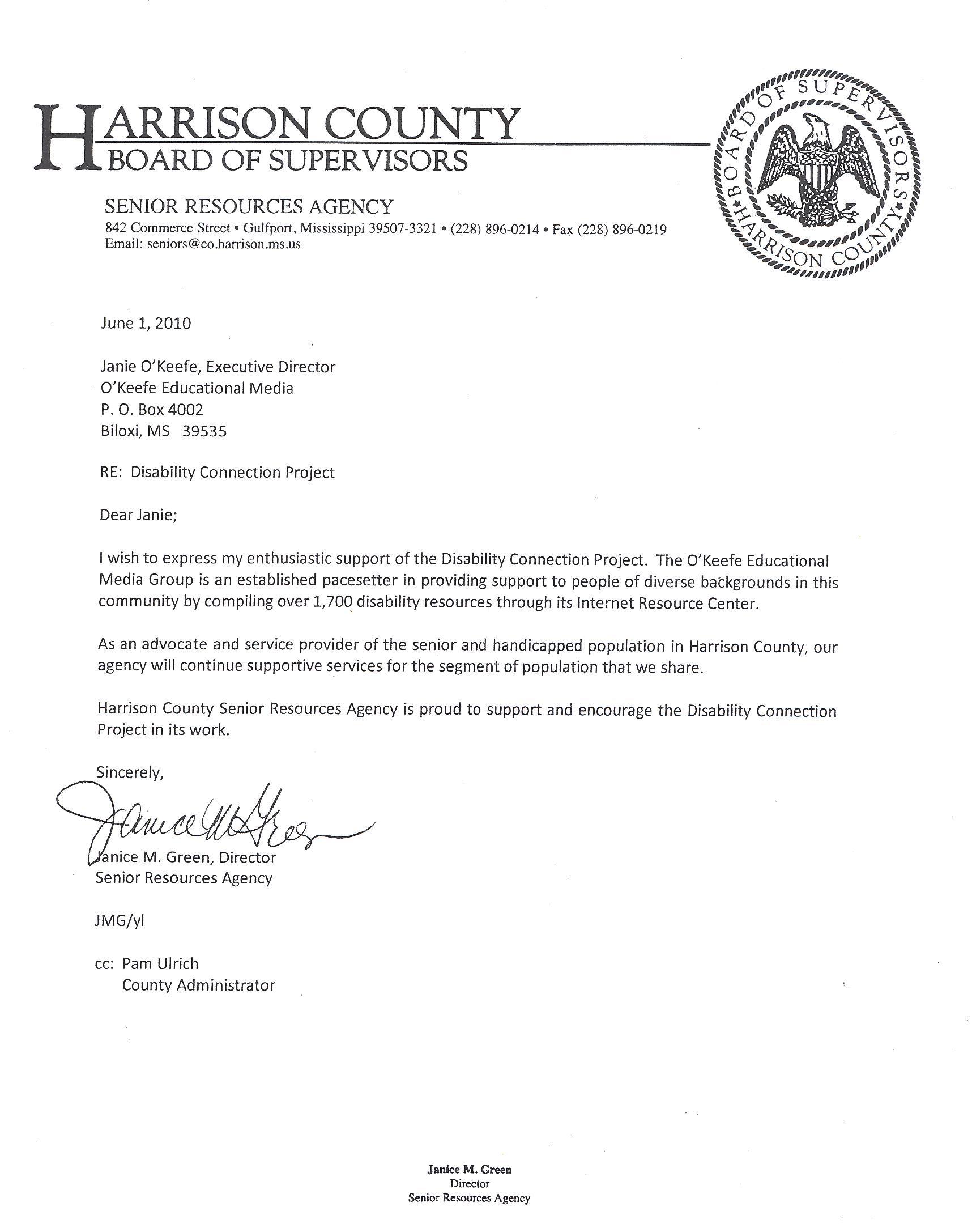 Letter of Agency