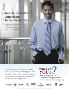 What Can You Do Disability Employment Campaign Poster