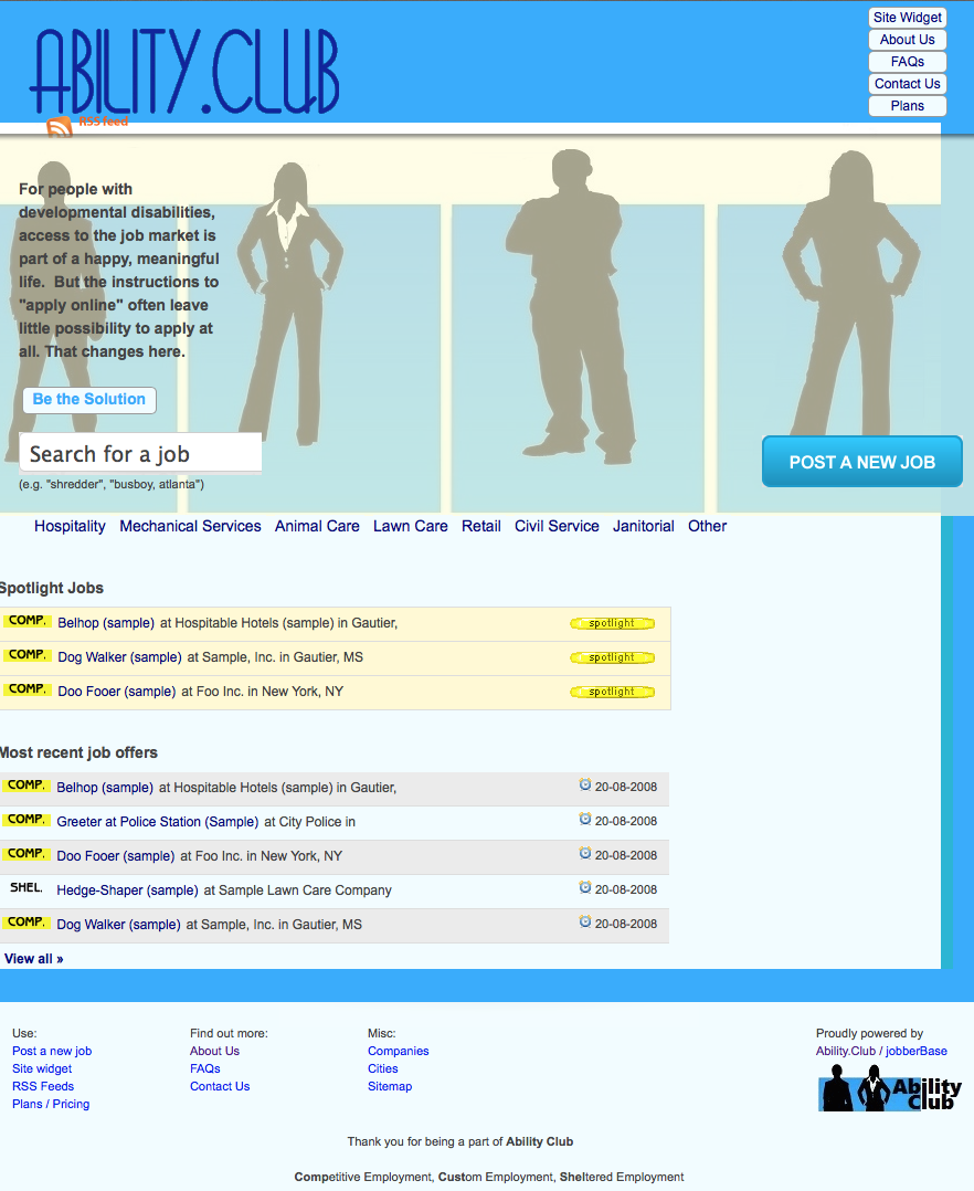 Ability.Club Website Screenshot
